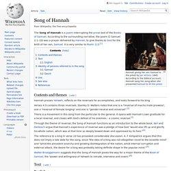 Song of Hannah - Wikipedia