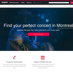 Songkick - Concerts, tour dates, and festivals for your favorite artists