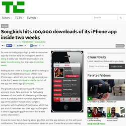 Songkick hits 100,000 downloads of its iPhone app inside two weeks