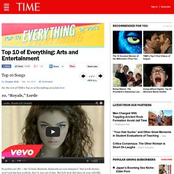 Top 10 Everything of 2013 - Arts and Entertainment