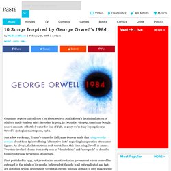 10 Songs Inspired by George Orwell's 1984