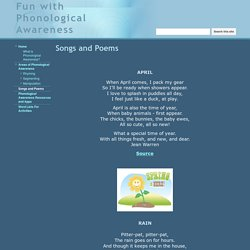 Songs and Poems - Fun with Phonological Awareness