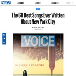 The 60 Best Songs Ever Written About New York City