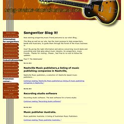 Songwriting Blog!
