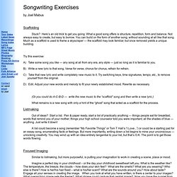 Songwriting Exercises - Handout