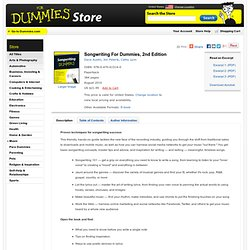 Songwriting For Dummies, 2nd Edition:Book Information