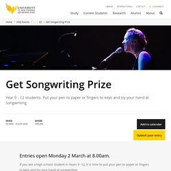 Get Songwriting Prize - University of Southern Queensland