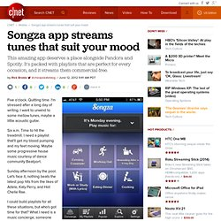 Songza app streams tunes that suit your mood
