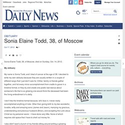 Sonia Elaine Todd, 38, of Moscow