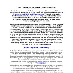 SonicFit- Exercises for Ear Training and Aural Skills