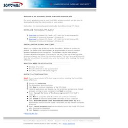 SonicWALL Global VPN Client Download Site