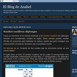 El Blog de Anabel: Sonidos vocálicos: diptongos
