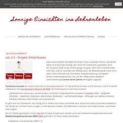 LdL 2.0 - Projekt: ErklärSnacks - sonnigeeinsichtens Webseite!