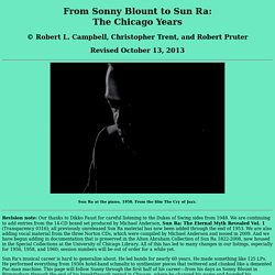 FROM SONNY BLOUNT TO SUN RA: The Chicago Years