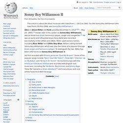 Sonny Boy Williamson II