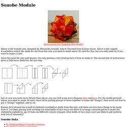 Sonobe module