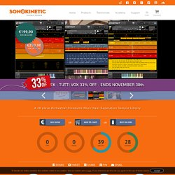Tutti Vox - Sonokinetic - Sample libraries and Virtual Instruments