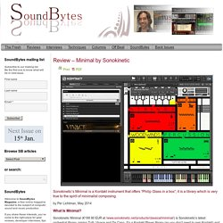 Minimal by Sonokinetic, Soundbytes reviewSoundbytes magazine