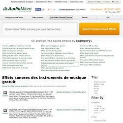 Effets sonores des instruments de musique gratuit