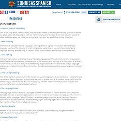 Sonrisas Spanish School - Resources