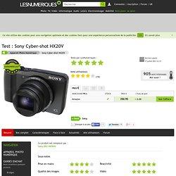 Sony Cyber-shot HX20V : test, actualité, prix, caractéristiques