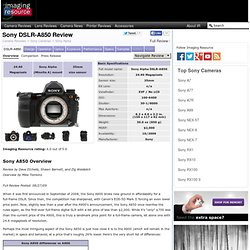Sony Alpha DSLR-A850 Digital Camera - Full Review - The Imaging
