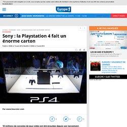 Sony : la Playstation 4 fait un énorme carton