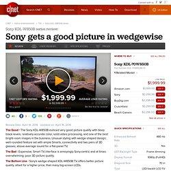 Sony KDL-W850B series review