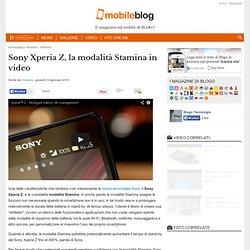 Sony Xperia Z: cos'è la modalità Stamina
