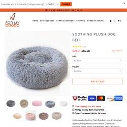 Soothing Plush Dog Bed