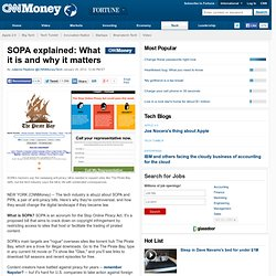 SOPA explained: What it is and why it matters - Jan. 17