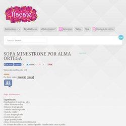 Sopa Minestrone por Alma Ortega