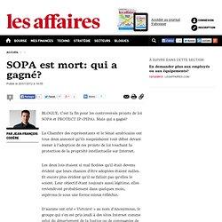 SOPA est mort: qui a gagné?