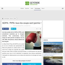 SOPA / PIPA: tous les coups sont permis !