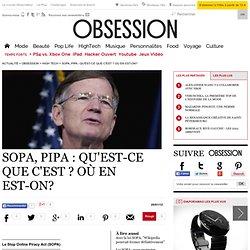 SOPA, PIPA : qu'est-ce que c'est ? Où en est-on? - Vu sur le web - Nouvelobs.com