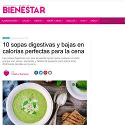 10 sopas digestivas y bajas en calorías para la cena
