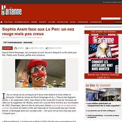 Sophia Aram face aux Le Pen: un nez rouge mais pas creux