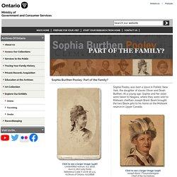Sophia Burthen Pooley, Part of the Family