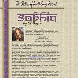 Sophia : Goddess of Wisdom