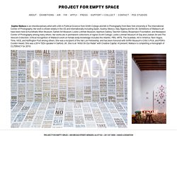 Sophia Wallace — Project for Empty Space
