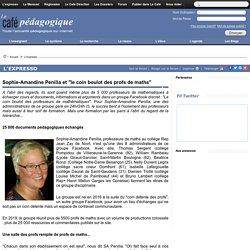"""Sophie-Amandine Penilla et """"le coin boulot des profs de maths"""""""