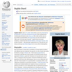 Sophie Darel