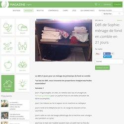 Défi de Sophie: ménage de fond en comble en 21 jours