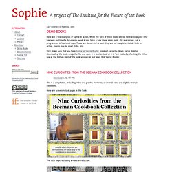 Sophie - A Project of the Institute for the Future of the Book