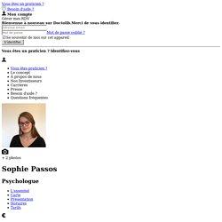 Sophie Passos, Psychologue à Neuilly-sur-Seine : Prenez RDV en ligne