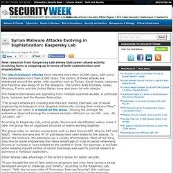 Syrian Malware Attacks Evolving in Sophistication: Kaspersky Lab