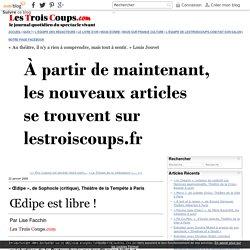 « Œdipe», de Sophocle (critique), ThéâtredelaTempête à Paris