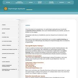 Sophrologie Appliquée - AGENDA