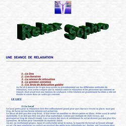 Sophrologie et Relaxation - Séance de Relaxation