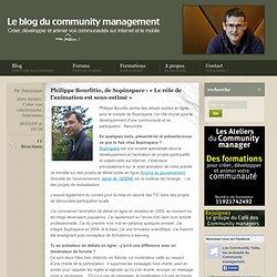 Fonction Philippe Bourlitio àSopinspace